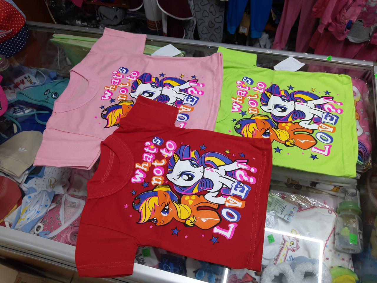 Летняя детская футболка для девочки my little pony р.86 - 128