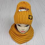 """М 94054. Комплект женский-подростковый шапка """"GOOD BILLII"""" и хомут, разные цвета, фото 5"""