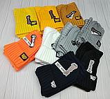 """М 94054. Комплект женский-подростковый шапка """"GOOD BILLII"""" и хомут, разные цвета, фото 8"""