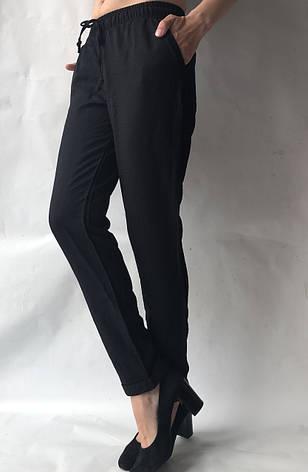 Женские летние штаны, №23 лен жатка черный, фото 2