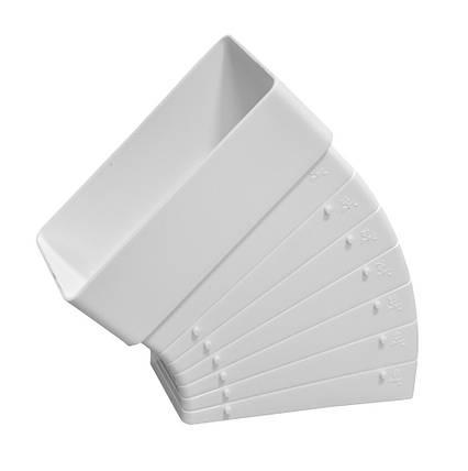 Колено разноугловое Эра для прямых каналов 60 х 204 мм (60-436), фото 2