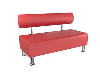 Диван BNB Solo 1200x540x750 красный.  Для школы, больницы, приемной, ожидания