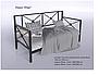 Кровать -софа метеллическая, в стиле прованс -Тарс, фото 4