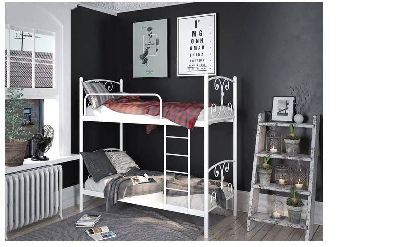 Кровать двухъярусная - Жасмин (металлическая)