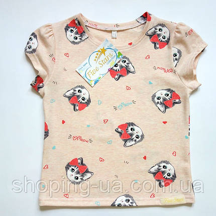 Детская футболка котики-няшки Five Stars KD0325-116p, фото 2
