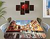 Виниловая наклейка на стол Венеция мосты и дома самоклеющаяся двойная пленка декор, бежевый 60 х 100 см, фото 2