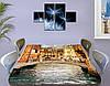 Виниловая наклейка на стол Романтическая Венеция самоклеющаяся двойная пленка декор, бежевый 60 х 100 см, фото 3
