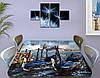 Виниловая наклейка на стол Ретро Венеция гондолы небо самоклеющаяся двойная пленка декор, синий 60 х 100 см, фото 3