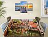 Виниловая наклейка на стол Особняк в Венеции самоклеющаяся двойная пленка декор, коричневый 60 х 100 см, фото 2
