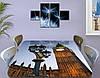 Виниловая наклейка на стол Лондонский фонарь и Биг Бен самоклеющаяся декоративная пленка, бежевый 60 х 100 см, фото 3
