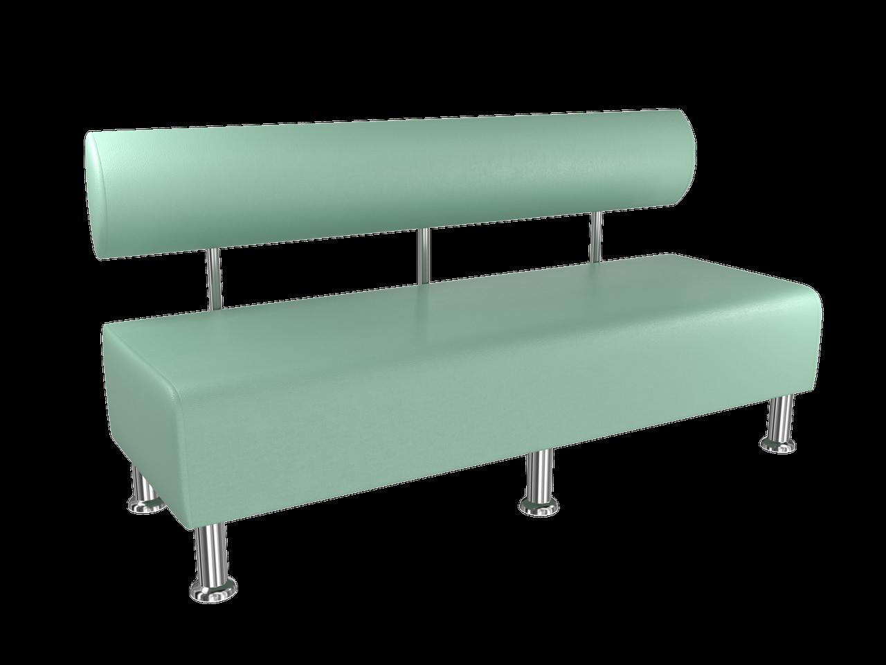 Диван BNB Solo 1500x540x750 светло-зеленый.  Для школы, больницы, приемной, ожидания