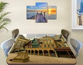 Виниловая наклейка на стол Городские арки декоративная пленка самоклеющаяся, бежевый 60 х 100 см, фото 3