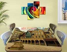 Виниловая наклейка на стол Городские арки декоративная пленка самоклеющаяся, бежевый 60 х 100 см, фото 2