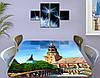 Виниловая наклейка на стол Колокольня Архитектура декоративная пленка самоклеющаяся, голубой 60 х 100 см, фото 3
