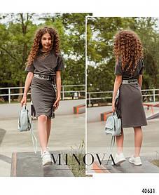 Платье туника длинная футболка для девочки, размер от 110 до 164