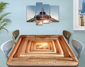 Виниловая наклейка на стол Античность Арки декоративная пленка самоклеющаяся, бежевый 60 х 100 см, фото 3