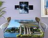 Виниловая наклейка на стол Арки и Колонны Архитектура декоративная пленка самоклеющаяся, голубой 60 х 100 см, фото 3