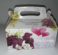 Картонная коробочка для свадебного каравая