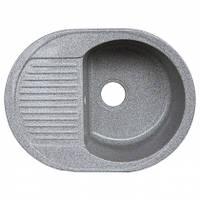 Кухонная мойка (гранит) Platinum BORA 6247 серый мусон