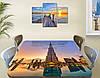 Виниловая наклейка на стол Восточный Небоскреб самоклеющаяся пленка с ламинацией, синий 60 х 100 см, фото 3