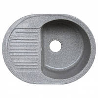 Кухонная мойка (гранит) Platinum BORA 6247 серый металлик