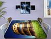 Виниловая наклейка на стол Колизей Рим Италия самоклеющаяся пленка с ламинацией, бежевый 60 х 100 см, фото 3