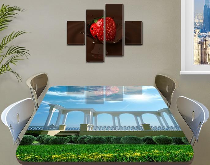 Виниловая наклейка на стол Набережная Арки и Небо самоклеющаяся пленка с ламинацией, 60 х 100 см