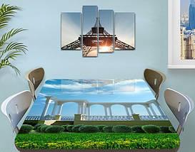 Виниловая наклейка на стол Набережная Арки и Небо самоклеющаяся пленка с ламинацией, 60 х 100 см, фото 3