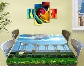Виниловая наклейка на стол Набережная Арки и Небо самоклеющаяся пленка с ламинацией, 60 х 100 см, фото 2