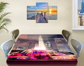 Виниловая наклейка на стол Разноцветный радужный фонтан самоклеющаяся пленка с ламинацией, серый 60 х 100 см, фото 3