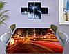 Виниловая наклейка на стол Скорость огней ночного города самоклей пленка с ламинацией, коричневый 60 х 100 см, фото 3
