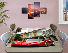 Декоративная наклейка на стол Монако машина виниловая пленка самоклейка, транспорт, красный 60 х 100 см, фото 3