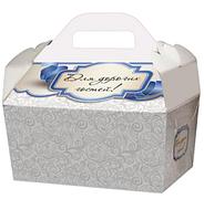 Картонная коробка -упаковка для торта, сладостей, каравая