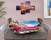Декоративная наклейка на стол Авто для леди виниловая пленка самоклейка, транспорт, розовый 60 х 100 см