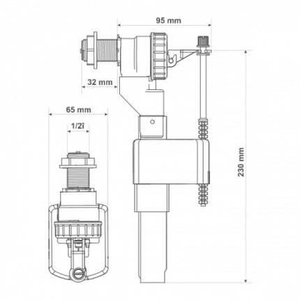"Наполняющий клапан KKPOL 1/2""PP ZN2 105, фото 2"