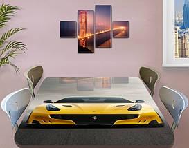 Декоративная наклейка на стол Желтая Феррари виниловая пленка самоклейка, транспорт, желтый 60 х 100 см, фото 3