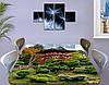 Виниловая наклейка на стол Японский сад и Храм самоклеющаяся декоративная пленка, Восток, зеленый 60 х 100 см, фото 3