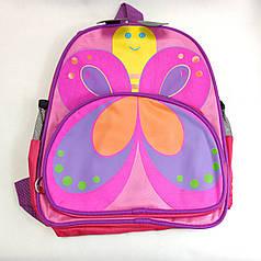 Детский рюкзак для дошкольника бабочка розовый