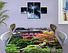 Виниловая наклейка на стол Пышная Япония самоклеющаяся декоративная пленка, Восток Азия, зеленый 60 х 100 см, фото 3