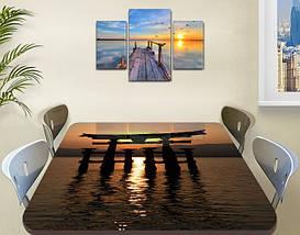 Виниловая наклейка на стол Восточные блики самоклеющаяся декоративная пленка абстракция коричневый 60 х 100 см, фото 2