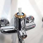 Однорычажный латунный смеситель для ванны цвет хром Q-Tap Premiere CRM 005 NEW, фото 3