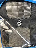 Чехлы на сиденья модельные (автоткань) Renault duster (рено дастер 2015-2018) деленный задний ряд, airbag