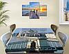 Виниловая наклейка на стол Солнечный Будапешт Архитектура декоративная пленка самоклеющаяся, серый 60 х 100 см, фото 2