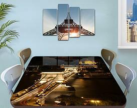 Виниловая наклейка на стол Ночные огни моста декоративная пленка самоклеющаяся, коричневый 60 х 100 см, фото 2