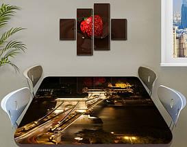 Виниловая наклейка на стол Ночные огни моста декоративная пленка самоклеющаяся, коричневый 60 х 100 см, фото 3