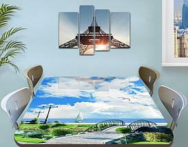 Виниловая наклейка на стол Облака над Гордом декоративная пленка самоклеющаяся, голубой 60 х 100 см, фото 3