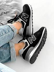 Женские кроссовки New Balance 574 Black / White