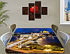 Виниловая наклейка на стол Ночная столица Огни города декоративная пленка самоклеющаяся, бежевый 60 х 100 см, фото 2