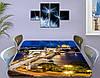 Виниловая наклейка на стол Ночная столица Огни города декоративная пленка самоклеющаяся, бежевый 60 х 100 см, фото 3