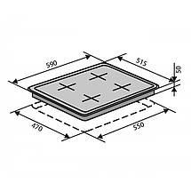 Варочная поверхность VENTOLUX HSF622-D3G CS (BK), фото 3